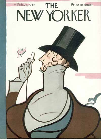 Signature Display Typeface of The New Yorker 1949_02_26 Copyright | The New Yorker Graphic Art Covers 1946-1970