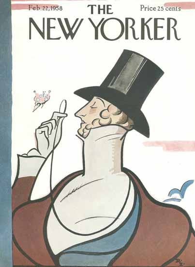 Signature Display Typeface of The New Yorker 1958_02_22 Copyright | The New Yorker Graphic Art Covers 1946-1970