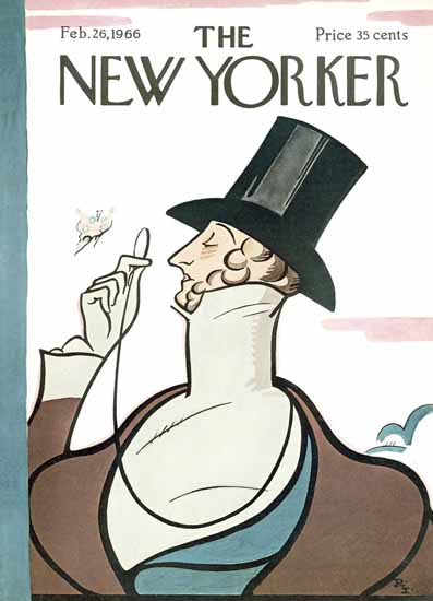 Signature Display Typeface of The New Yorker 1966_02_26 Copyright | The New Yorker Graphic Art Covers 1946-1970