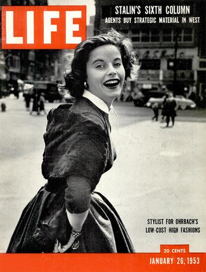 Sigrid Soelter for Ohrbach 26 Jan 1953 Copyright Life Magazine | Life Magazine BW Photo Covers 1936-1970