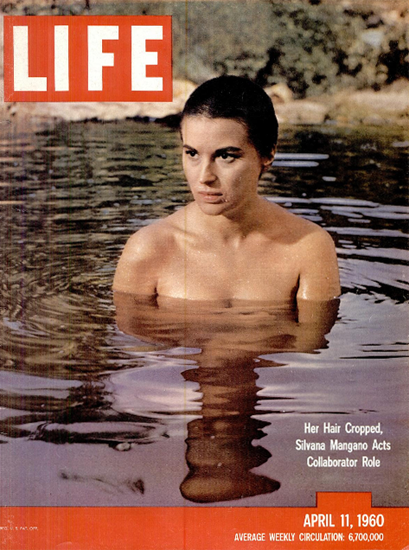 Silvana Mangano takes a Bath 11 Apr 1960 Copyright Life Magazine | Life Magazine Color Photo Covers 1937-1970