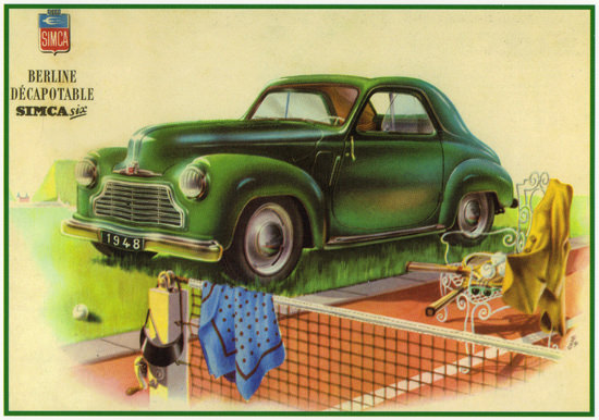 Simca Six Berline Convertible 1948 | Vintage Cars 1891-1970