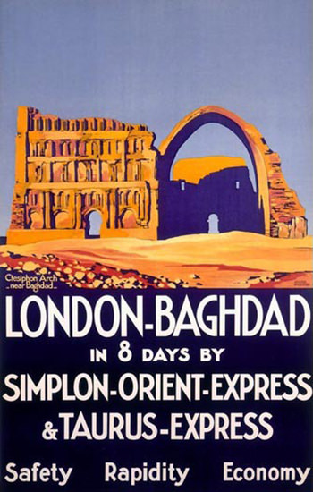 Simplon Orient-Express London – Bagdad Broders | Vintage Travel Posters 1891-1970