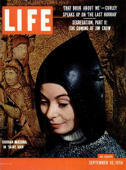 Siobhan McKenna in Saint Joan 10 Sep 1956 Copyright Life Magazine | Life Magazine Color Photo Covers 1937-1970