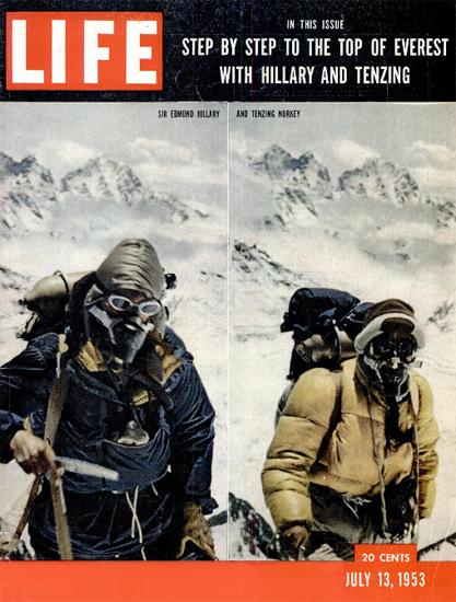 Sir Edmund Hillary N Tenzing Norgay 13 Jul 1953 Copyright Life Magazine | Life Magazine Color Photo Covers 1937-1970