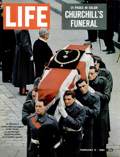 Sir Winston Churchill Funeral 5 Feb 1965 Copyright Life Magazine | Life Magazine Color Photo Covers 1937-1970