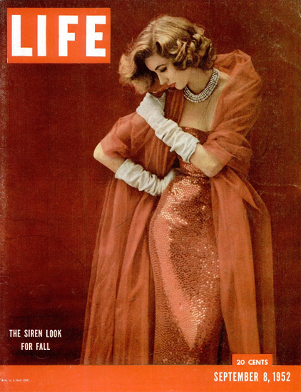 Siren Look for Fall 8 Sep 1952 Copyright Life Magazine | Life Magazine Color Photo Covers 1937-1970