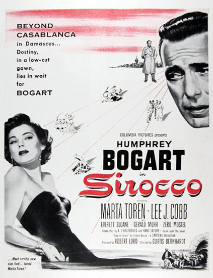 Sirocco Movie 1951 Humphrey Bogart M Toren | Sex Appeal Vintage Ads and Covers 1891-1970