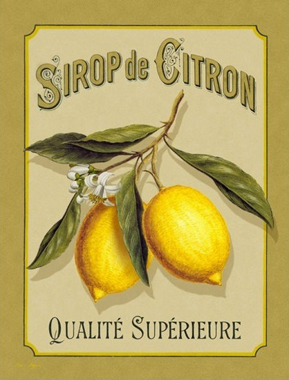 Sirop De Citron Qualite Superieur Sirup | Vintage Ad and Cover Art 1891-1970