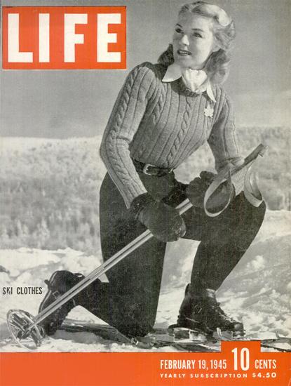 Ski Clothes 19 Feb 1945 Copyright Life Magazine | Life Magazine BW Photo Covers 1936-1970