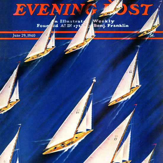 Ski Weld Saturday Evening Post Regatta 1940_06_29 Copyright crop | Best of Vintage Cover Art 1900-1970
