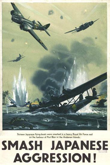 Smash Japanese Aggression 13 Flying-Boats | Vintage War Propaganda Posters 1891-1970