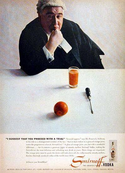 Smirnoff Vodka 1956 Screw Driver | Vintage Ad and Cover Art 1891-1970