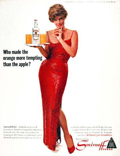 Smirnoff Vodka 1964 Julie London Screwdriver | Sex Appeal Vintage Ads and Covers 1891-1970