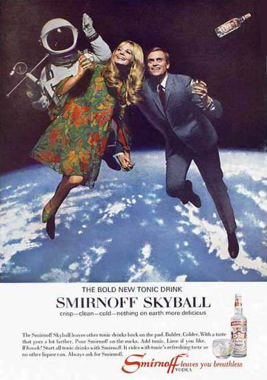Smirnoff Vodka Skyball 1967 | Vintage Ad and Cover Art 1891-1970
