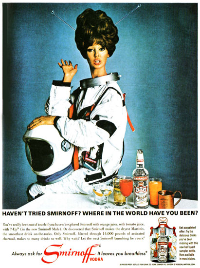 Smirnoff Vodka Where Have You Been 1966 | Vintage Ad and Cover Art 1891-1970