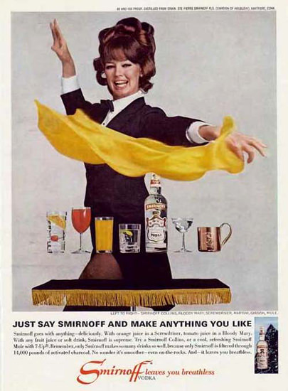 Smirnoff Vodka You Like 1967 Bloody Mary | Vintage Ad and Cover Art 1891-1970