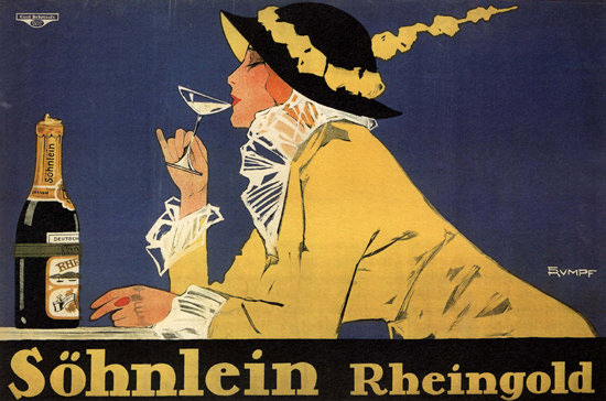 Soehnlein Reingold Sekt Germany Sparkling Wine | Sex Appeal Vintage Ads and Covers 1891-1970