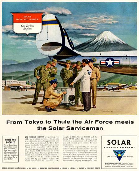 Solar Aircraft Company Mars Jupiter C-121C | Vintage War Propaganda Posters 1891-1970