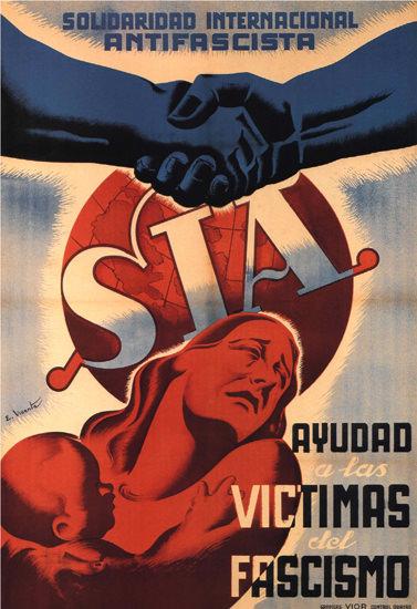 Solidaridad Internacional Antifascista Espana | Vintage War Propaganda Posters 1891-1970