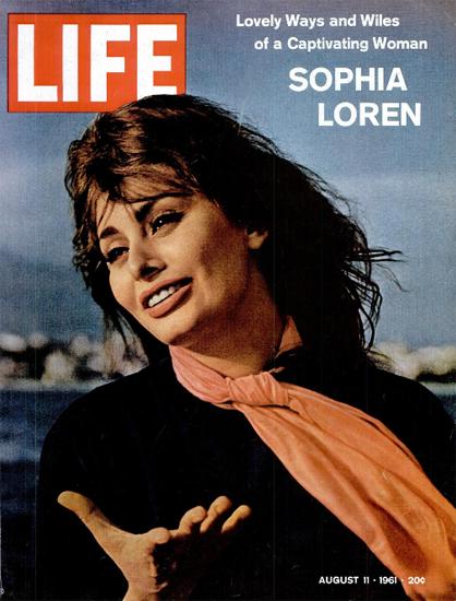 Sophia Loren a captivating Woman 11 Aug 1961 Copyright Life Magazine | Life Magazine Color Photo Covers 1937-1970