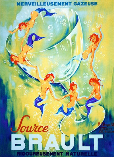 Source Brault Merveilleusement Gazeuse Mermaid | Sex Appeal Vintage Ads and Covers 1891-1970