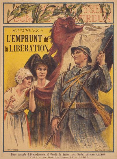 Souscrivez A L Emprunt De La Liberation   Vintage War Propaganda Posters 1891-1970
