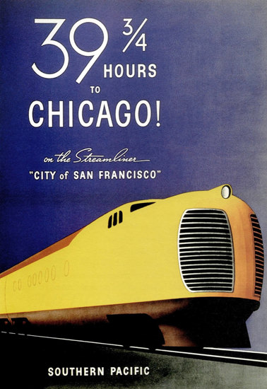 Southern Pacific Chicago City San Francisco 1936 | Vintage Travel Posters 1891-1970