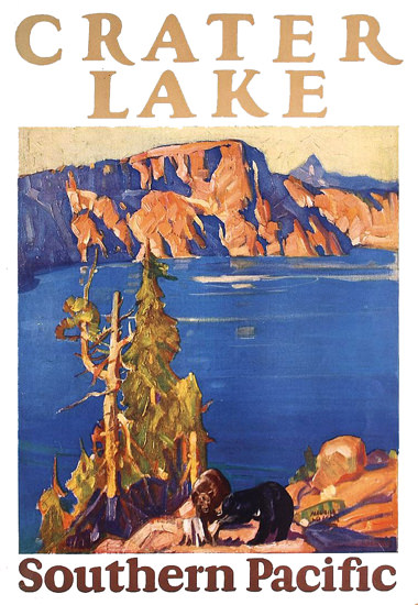 Southern Pacific Crater Lakes 1928 | Vintage Travel Posters 1891-1970