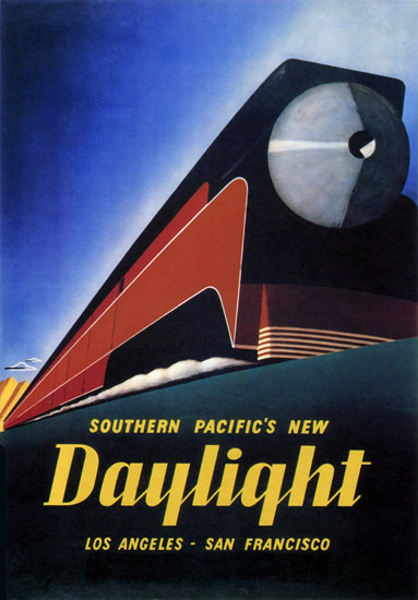 Southern Pacific New Daylight 1930s | Vintage Travel Posters 1891-1970