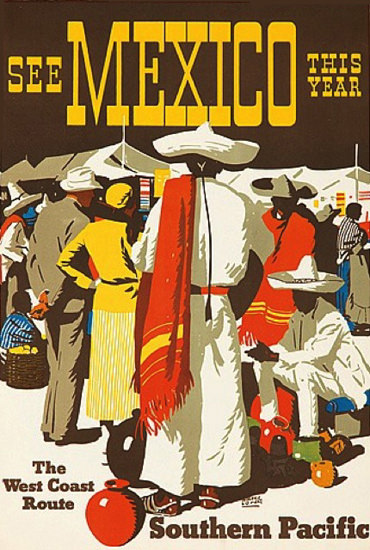 Southern Pacific See Mexico This Year 1932 | Vintage Travel Posters 1891-1970