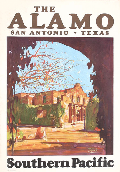 Southern Pacific The Alamo S Antonio Texas 1929 | Vintage Travel Posters 1891-1970