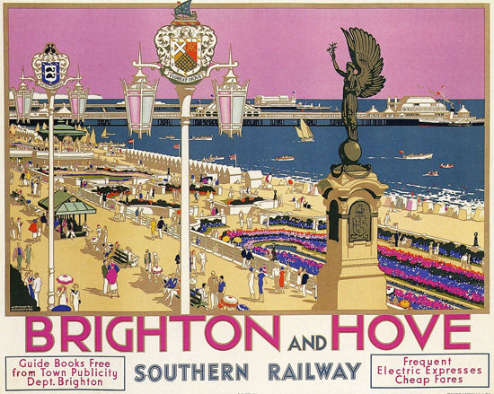 Southern Railway Brighton And Hove 1930s | Vintage Travel Posters 1891-1970
