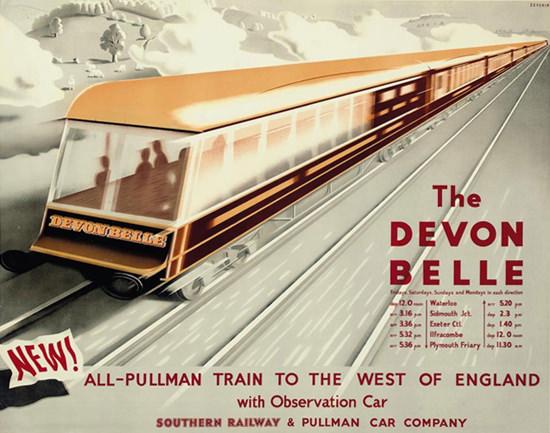 Southern Railway Pullman Car Devon Belle 1947 | Vintage Travel Posters 1891-1970