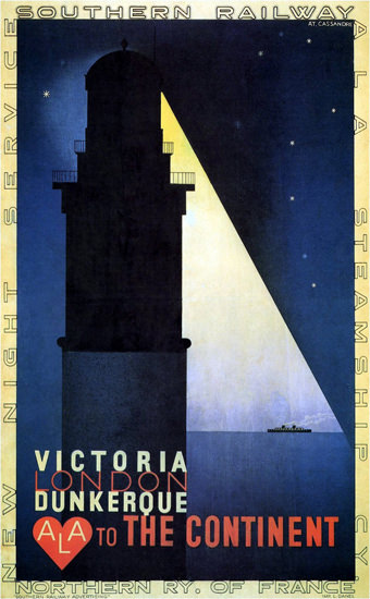 Southern Railway Victoria Dunkerque 1932 | Vintage Travel Posters 1891-1970
