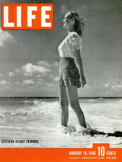 Southern Resort Fashion 14 Jan 1946 Copyright Life Magazine | Life Magazine BW Photo Covers 1936-1970