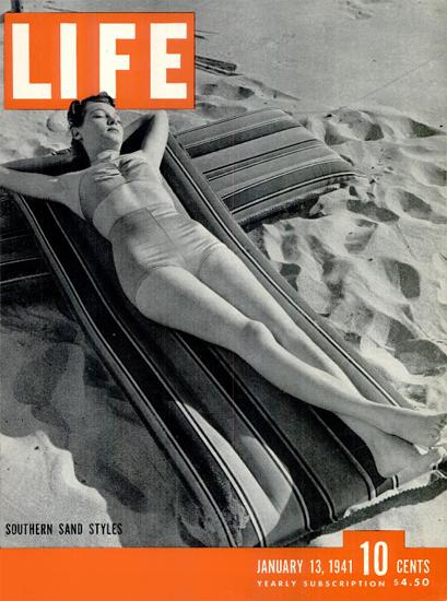 Southern Sand Styles 13 Jan 1941 Copyright Life Magazine | Life Magazine BW Photo Covers 1936-1970