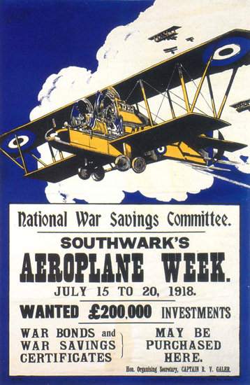 Southwarks Aeroplane Week 1918 UK | Vintage Ad and Cover Art 1891-1970