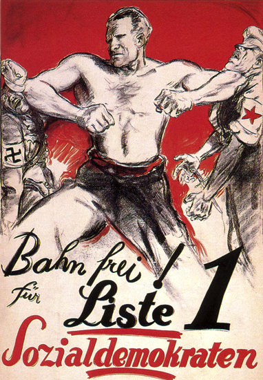 Sozialdemokraten Bahn Frei Social Democrats | Vintage War Propaganda Posters 1891-1970