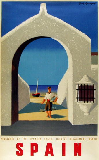 Spain Archway 1948 | Vintage Travel Posters 1891-1970