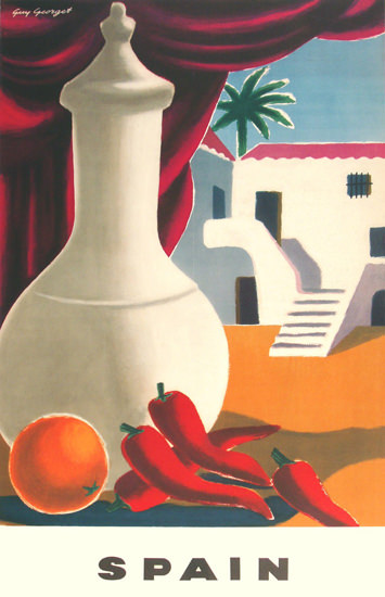 Spain House 1950 | Vintage Travel Posters 1891-1970
