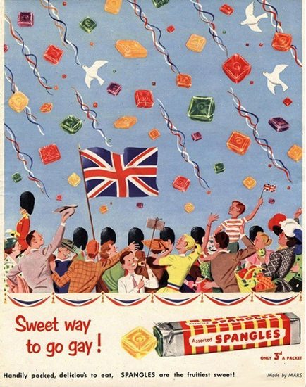Spangles Candy Sweet Way To Go Gay Parade   Vintage Ad and Cover Art 1891-1970