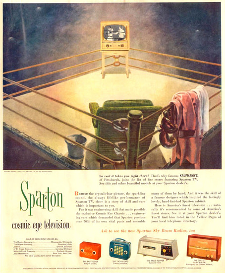 Sparton Cosmic Eye Television | Vintage Ad and Cover Art 1891-1970