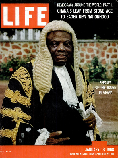 Speaker of the House in Ghana 18 Jan 1960 Copyright Life Magazine | Life Magazine Color Photo Covers 1937-1970