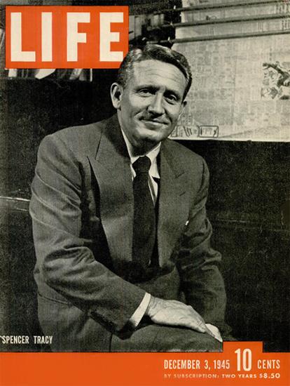 Spencer Tracy 3 Dec 1945 Copyright Life Magazine   Life Magazine BW Photo Covers 1936-1970