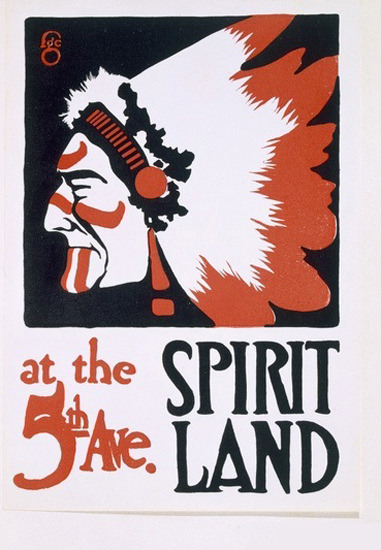 Spirit Land At The 5th Avenue F G Cooper Indian | Vintage Ad and Cover Art 1891-1970