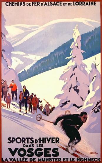 Sports D Hiver Dans Les Vosges La Valle Munster | Vintage Travel Posters 1891-1970