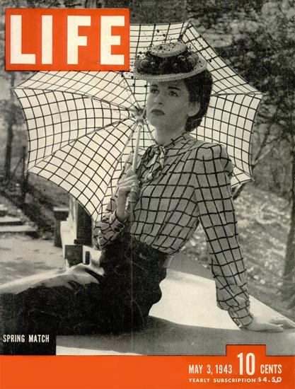 Spring Match 3 May 1943 Copyright Life Magazine   Life Magazine BW Photo Covers 1936-1970