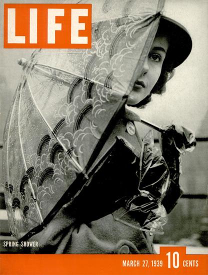 Spring Shower 27 Mar 1939 Copyright Life Magazine   Life Magazine BW Photo Covers 1936-1970