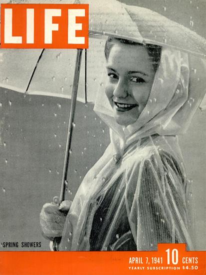 Spring Showers 7 Apr 1941 Copyright Life Magazine | Life Magazine BW Photo Covers 1936-1970